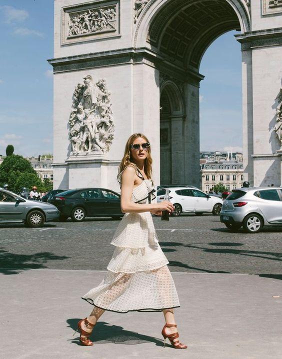 white chiffon dress ruffles