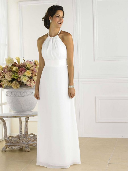white halter maxi dress outfit
