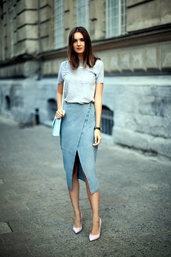 suede skirt pastels