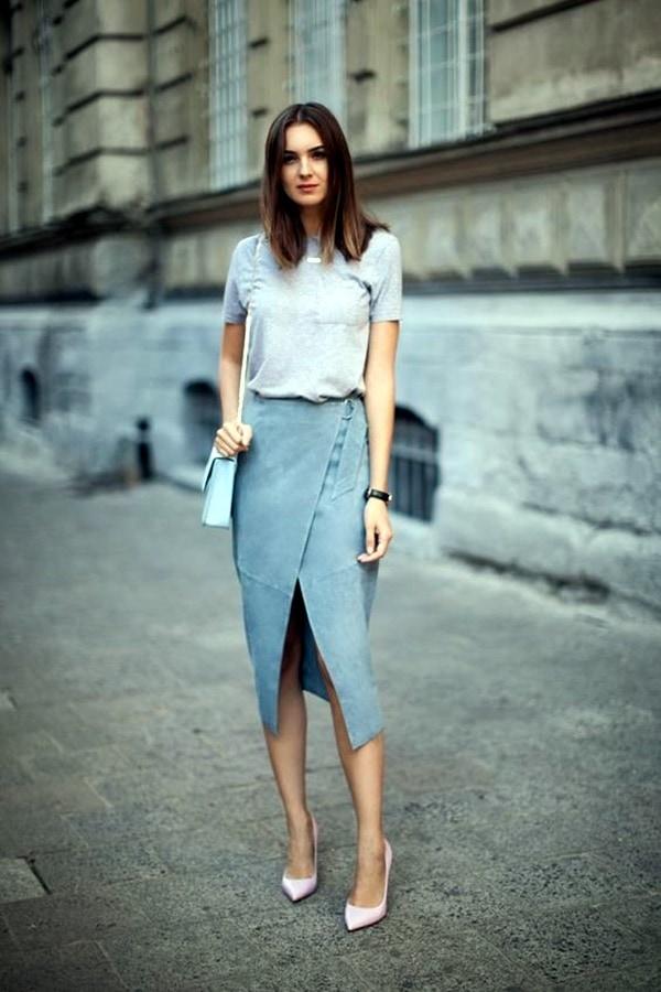 suede skirt pastels