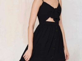 black backless dress outfits