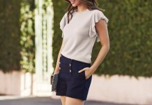 best flutter sleeve top outfits