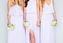 best purple bridesmaid dresses