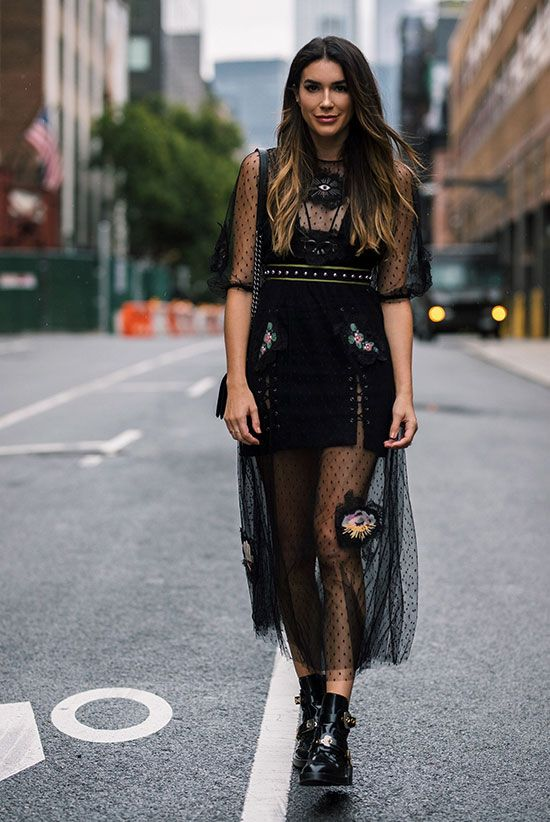 black mesh dress crochet
