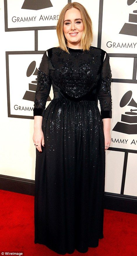 black sparkly dress adele