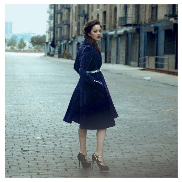 blue velvet knee length flare dress silver belt