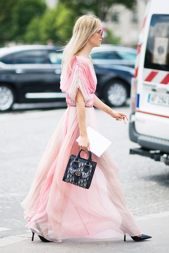 blush pink dress tulle