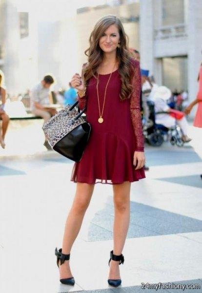 6b2e72c36ca How to Wear Burgundy Lace Dress: Top Outfit Ideas - FMag.com