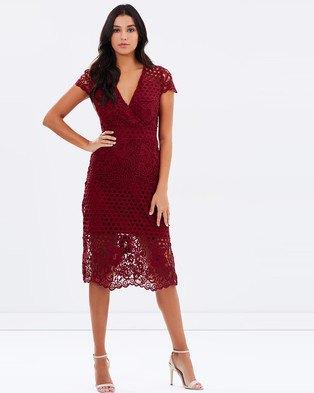 burgundy deep v neck dress mesh overlay