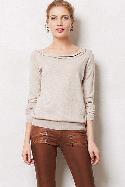 cowl neck sweatshirt brownish