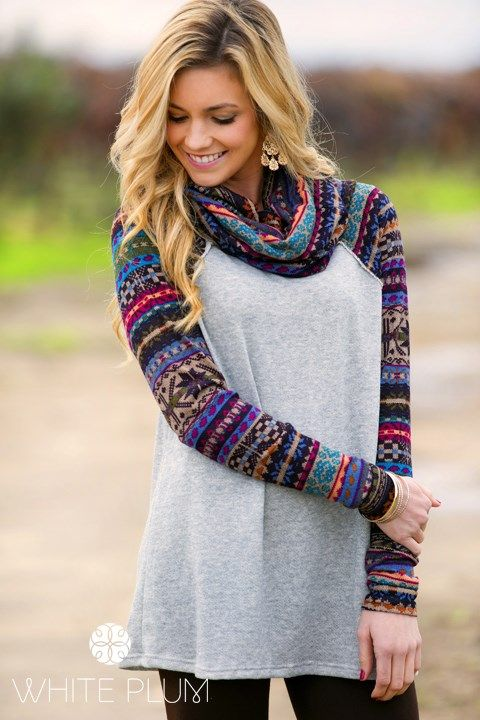 cowl neck sweatshirt embroidered