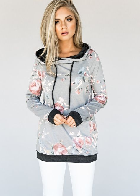 cowl neck sweatshirt florals