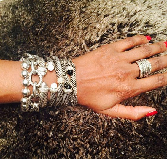 silver cuff bracelet crisscrossed
