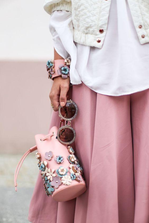 floral clutch bag pink rucksack
