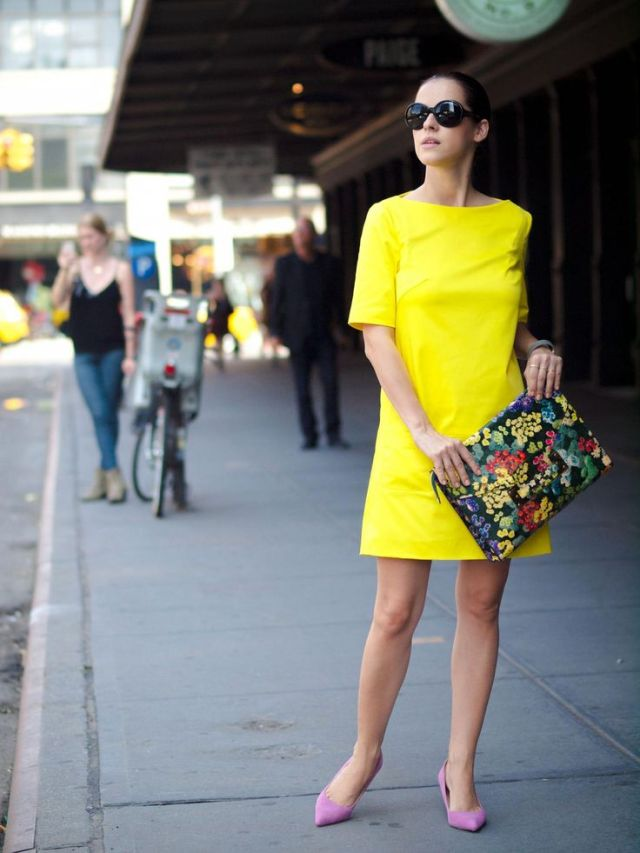 floral clutch bag yellow