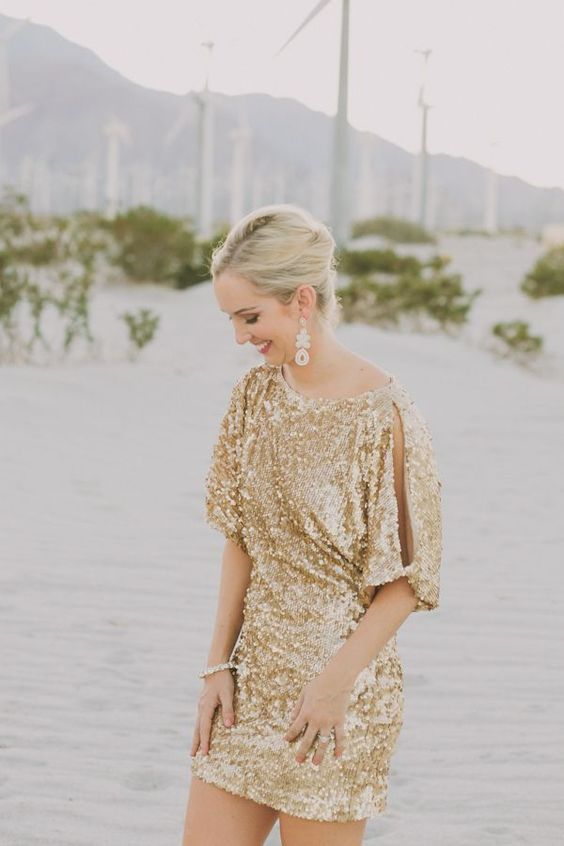 gold sparkly dress bridesmaid