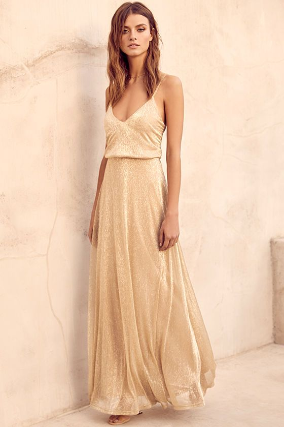 gold sparkly dress triangle