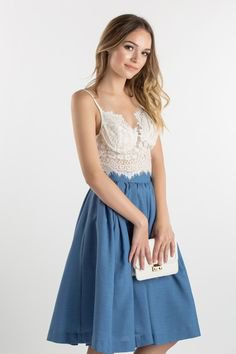 lace bralette high waisted flare skirt