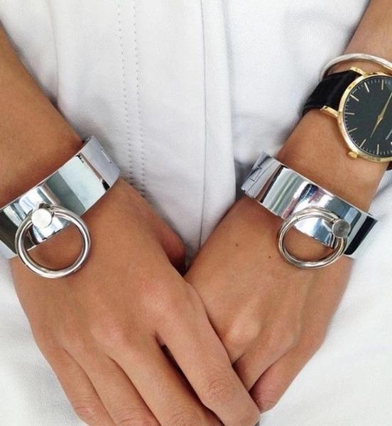 silver cuff bracelet love