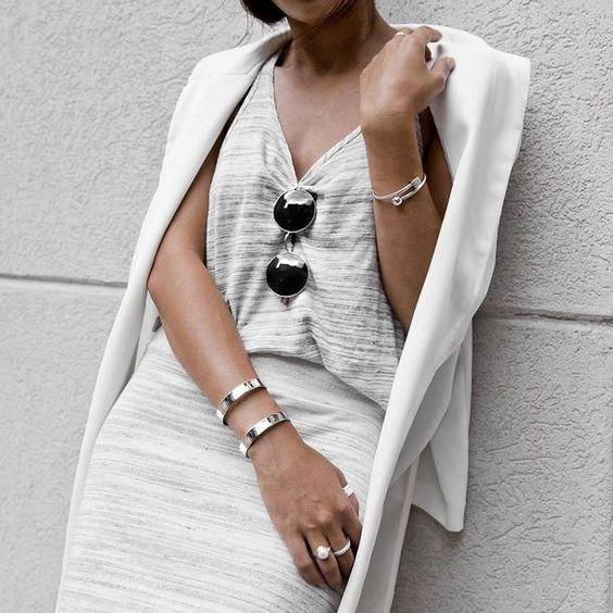 silver cuff bracelet white