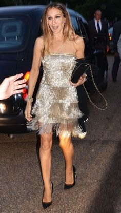 silver strapless sequin fringe dress