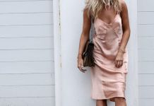 spaghetti strap dress baby pink