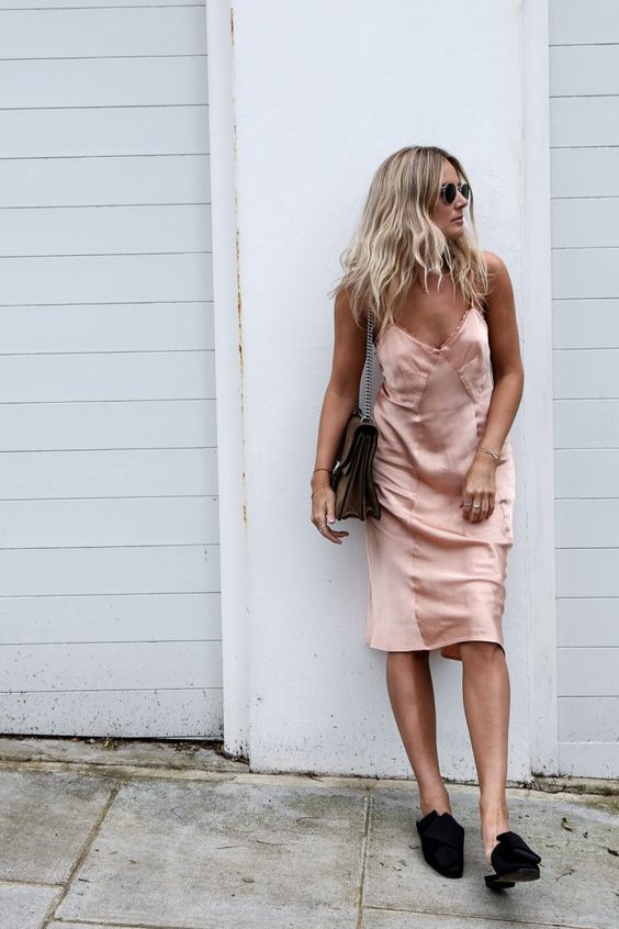spaghetti strap dress baby pink