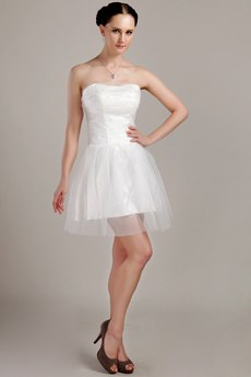 strapless white tulle dress black open toe heels
