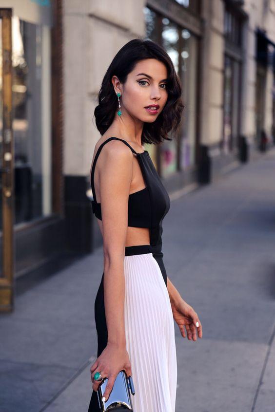 white cut out dress pleads