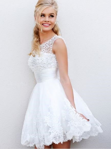 white lace tulle dress floral pattern