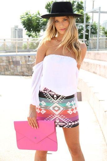 bandage skirt printed