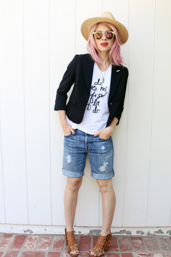 best knee length shorts outfits