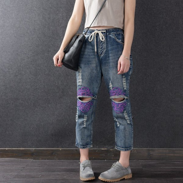 best elastic waist jeans outfits