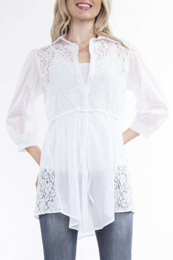 best white lace shirt outfit ideas