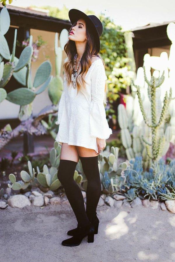 9fa73163da91 How to Style Thigh High Socks  15 Best Outfit Ideas - FMag.com