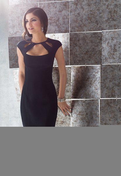 black cutout bodycon dress