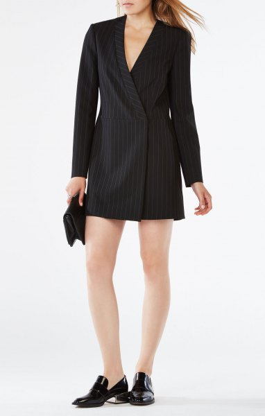 black striped suit jacket dress
