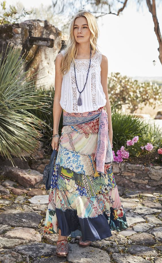 elastic waist skirt gypsy