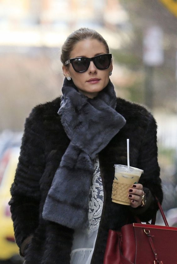 faux fur scarf double