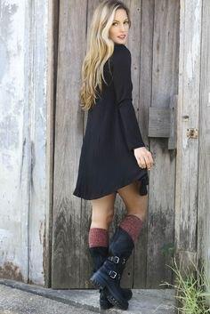 knee high socks mid calf boots