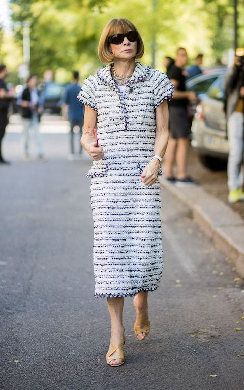 tweed dress anna wintour