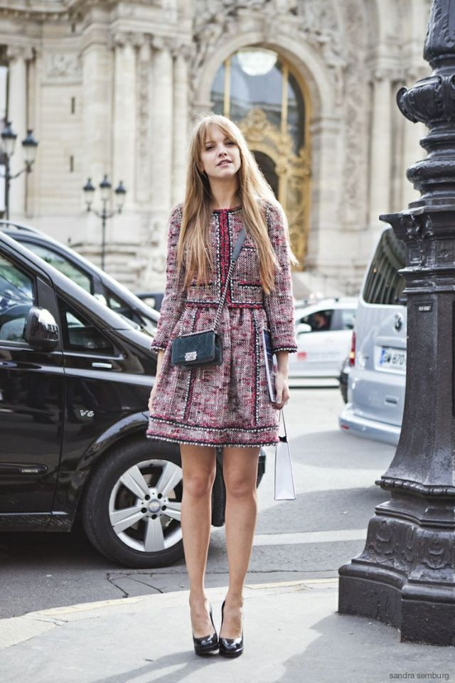 tweed dress modern