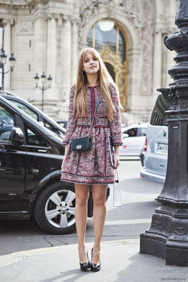 tweed dress modern