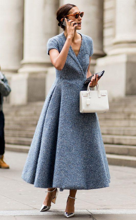 tweed dress retro