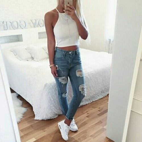 How to Style White Halter Top: 15 Best Outfit Ideas - FMag.com