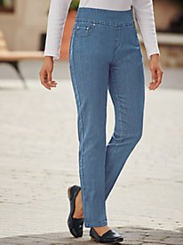 white form fitting top high rise straight leg jeans