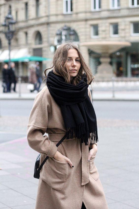 wool wrap coat camel vanja