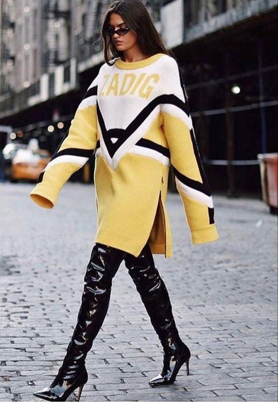 jumper dress yellow logo