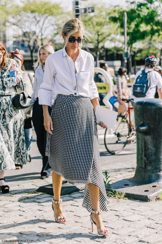asymmetrical skirt casual gingham