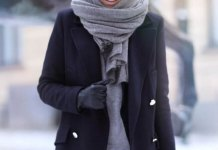 best cashmere scarf outfit ideas